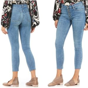 NWT Free People Reagan Raw-Hem Skinny Jean Size 30